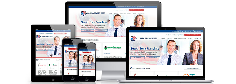 Picture of All USA Franchises, the First 100% FREE Online Directory for Franchise Companies in the United States