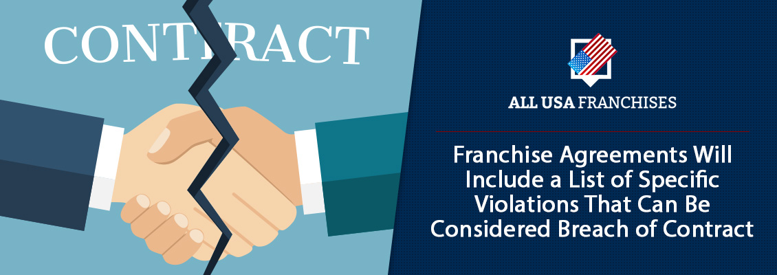Franchisor and Franchisee United Hands Symbolizing Franchise Contract Being Torn Apart by a Crack