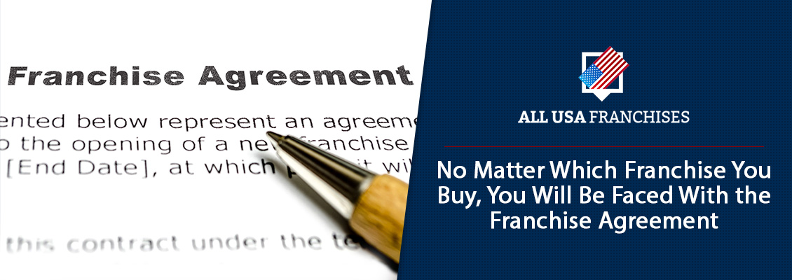 Franchise Agreement Contract Document With Pen for Signing