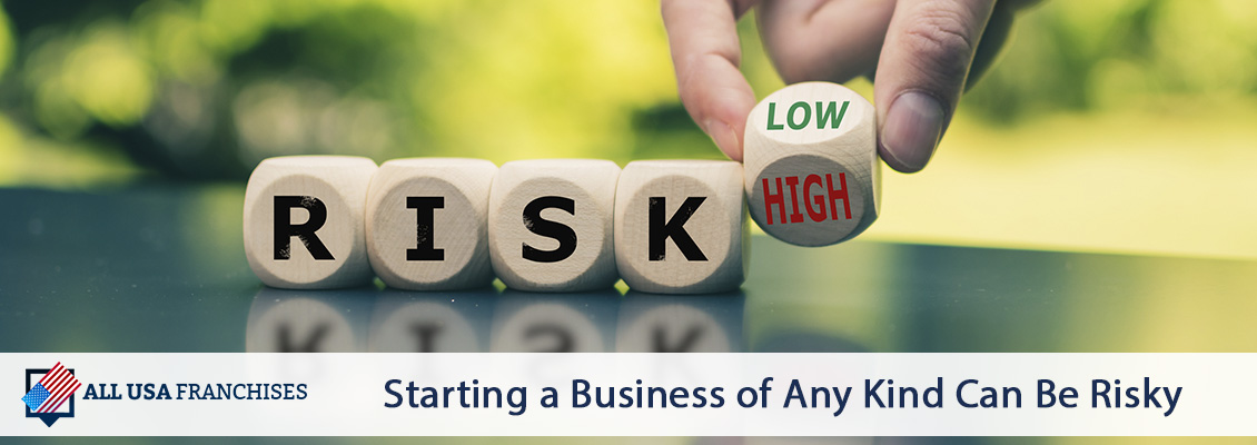 The Word Risk Written on Wooden Cubes and Last Cube as the Word High Witten on One Side and Low on the Other