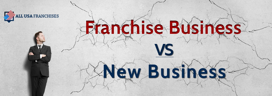 Picture of a Businessman Looking at a Franchise Business vs a New Business