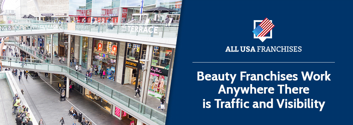 Mall with Beauty Franchises